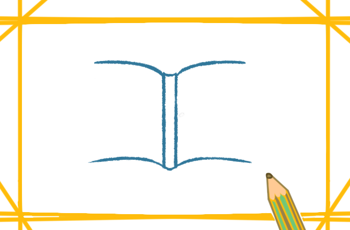 翻开的书籍简笔画怎么画好看