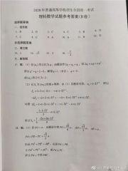 2020年河南高考数学B卷参考答案