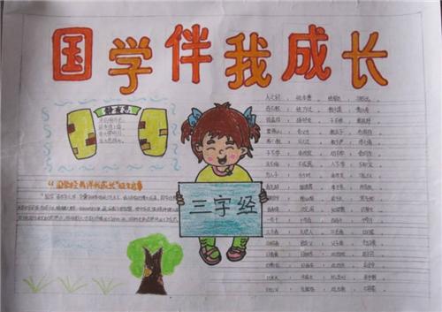 国学经典与传统文化手抄报精选