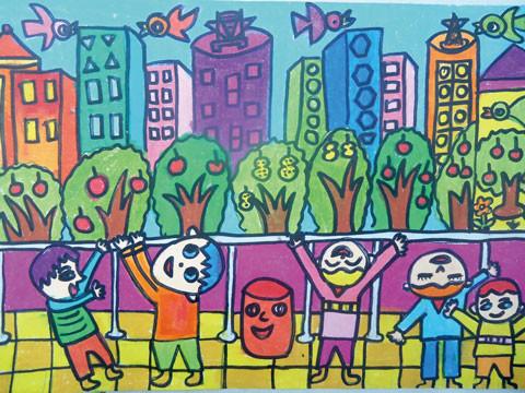 保护环境的绘画作品