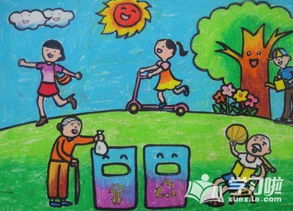 以保护环境为主题的绘画作品