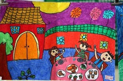 中秋节的绘画图片