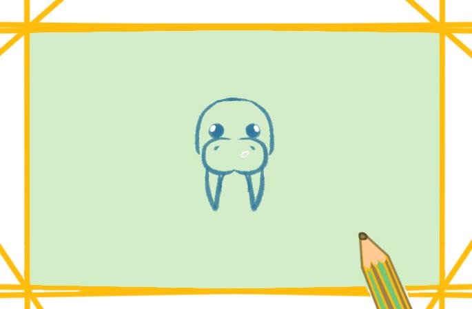 海洋生物之海象簡筆畫教程