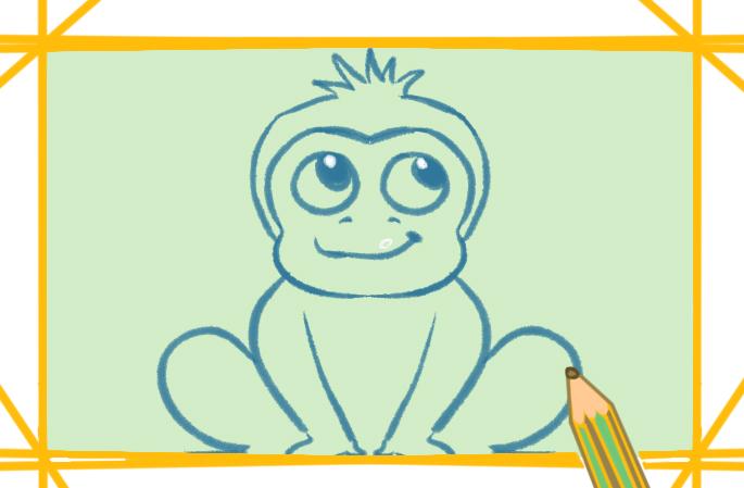 聰明的猴子簡筆畫圖片教程大全