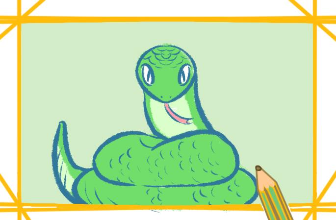 漂亮的蛇帶顏色怎么畫好看