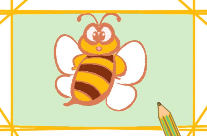 卡通可爱的蜜蜂简笔画怎么画简单