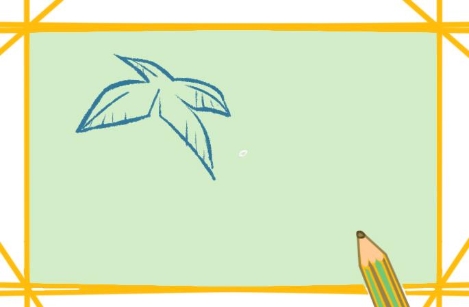 美丽的小岛上色简笔画图片教程步骤