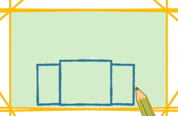 简单好看的教堂上色简笔画图片教程步骤
