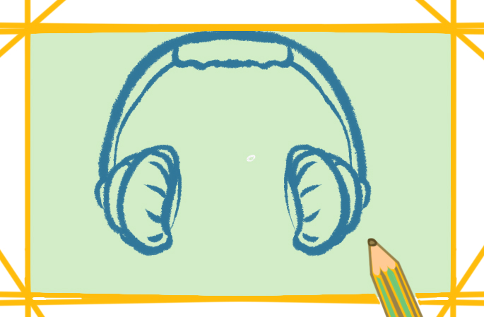 听音乐的耳机上色简笔画图片教程步骤