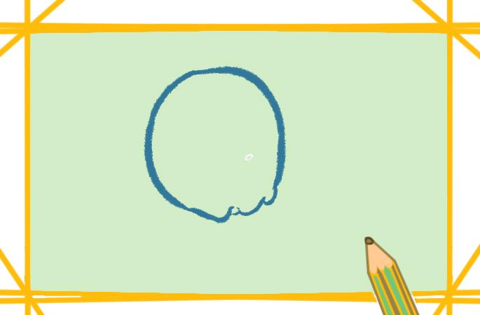 简单好看的炸鸡上色简笔画图片教程步骤