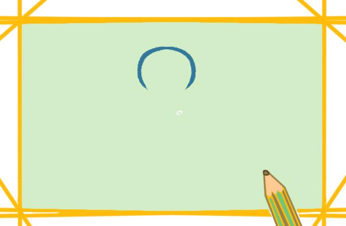 有趣的姜饼小人上色简笔画图片教程步骤