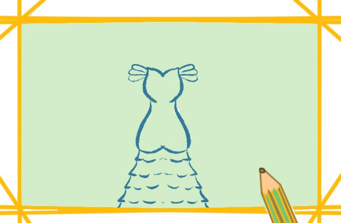 简单漂亮的晚礼服简笔画图片教程步骤